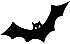 bat horror Free Gcode .TAP File for CNC
