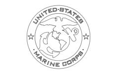 usmc emblem Free Gcode .TAP File for CNC