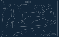 helicopter Free Gcode .TAP File for CNC
