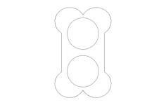 dog bone dish Free Gcode .TAP File for CNC