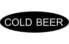 cold beer Free Gcode .TAP File for CNC