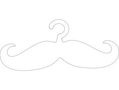 cabide bigode hanger mustache Free Gcode .TAP File for CNC