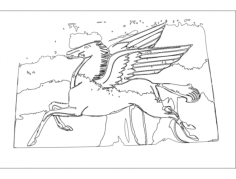 flying horse Free Gcode .TAP File for CNC