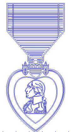 purple heart Free Gcode .TAP File for CNC