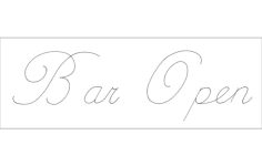 bar open Free Gcode .TAP File for CNC