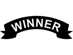 winner banner Free Gcode .TAP File for CNC