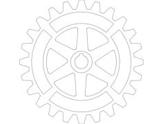 gear with extras Free Gcode .TAP File for CNC