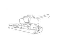 grain harvester Free Gcode .TAP File for CNC
