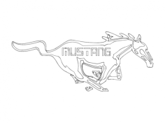 ford mustang Free Gcode .TAP File for CNC