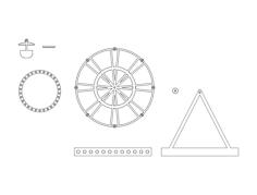 ferris wheel Free Gcode .TAP File for CNC