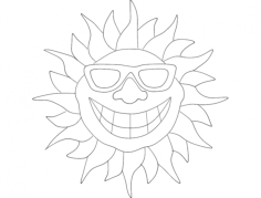 smile sun Free Gcode .TAP File for CNC