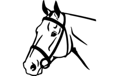 horse face Free Gcode .TAP File for CNC