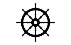 ships wheel Free Gcode .TAP File for CNC