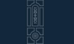 door design Free Gcode .TAP File for CNC