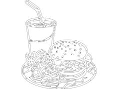 hambuger cartoon Free Gcode .TAP File for CNC