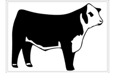 hereford cattle Free Gcode .TAP File for CNC