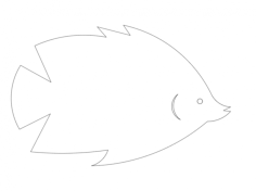fish small Free Gcode .TAP File for CNC