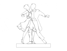 dancers Free Gcode .TAP File for CNC