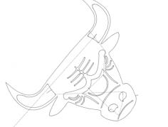 bull Free Gcode .TAP File for CNC