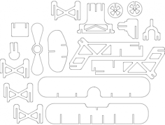 samolot Free Gcode .TAP File for CNC