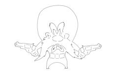yosemite sam Free Gcode .TAP File for CNC