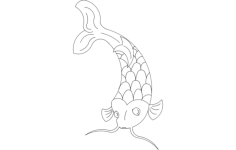 koi fish Free Gcode .TAP File for CNC