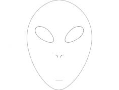 alien face Free Gcode .TAP File for CNC
