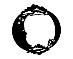 moon stars Free Gcode .TAP File for CNC