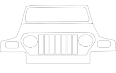 jeep Free Gcode .TAP File for CNC