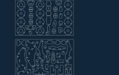 kvadrotsikl Free Gcode .TAP File for CNC