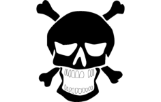 horror face Free Gcode .TAP File for CNC