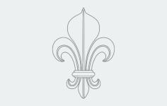 fleur de lis Free Gcode .TAP File for CNC