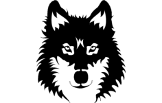 wolf face Free Gcode .TAP File for CNC