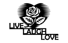 live laugh love Free Gcode .TAP File for CNC