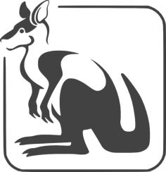 kangaroo logo Free Gcode .TAP File for CNC