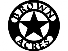 brown acres Free Gcode .TAP File for CNC