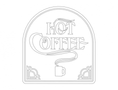 hot coffee Free Gcode .TAP File for CNC