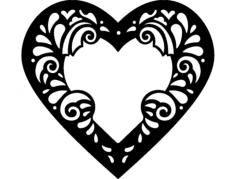heart frame Free Gcode .TAP File for CNC