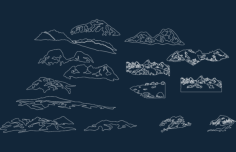 forest images art disk mountains Free Gcode .TAP File for CNC