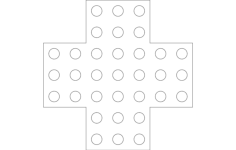 marble solitaire Free Gcode .TAP File for CNC