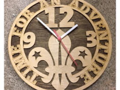 cadre horloge scoute Free Gcode .TAP File for CNC