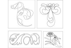 floral design Free Gcode .TAP File for CNC