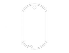 dog tag Free Gcode .TAP File for CNC