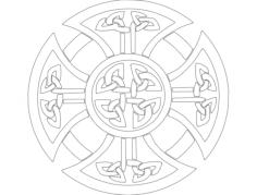 derby celtic cross Free Gcode .TAP File for CNC