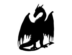 dragon silhouette Free Gcode .TAP File for CNC
