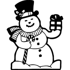 cheerful snowman Free Gcode .TAP File for CNC