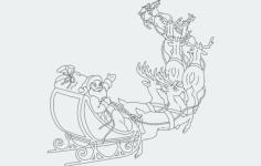 santa sleigh Free Gcode .TAP File for CNC