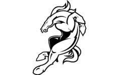 denver broncos logo Free Gcode .TAP File for CNC