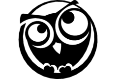 the owl Free Gcode .TAP File for CNC