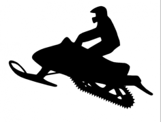 snowmobile Free Gcode .TAP File for CNC